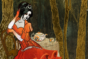 illustration of the red queen from Alice in Wonderland